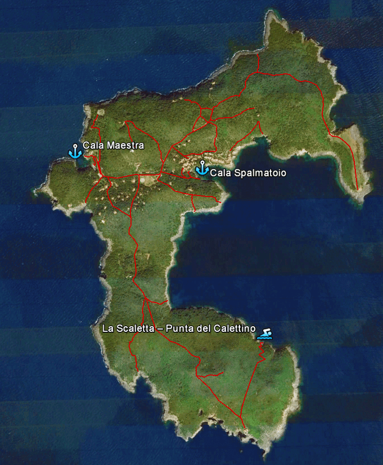 La Scaletta – Punta del Calettino map